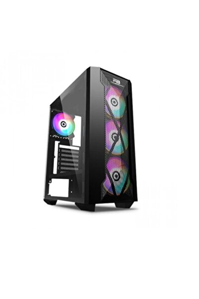 Power Boost Powerboost 500w Vk-p1900b 4x 12cm Rgb Fan Gaming Mid Tower Pc Kasası Siyah