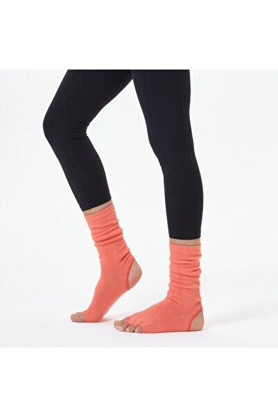 Nui Yoga Kadın Nar Çiçeği Bilekli Yoga ve  Pilates Çorabı