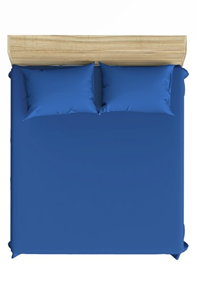 Maki Pamuk Pazen (flanel) Mavi 100x200 Tek Kişilik Lastikli Çarşaf Seti