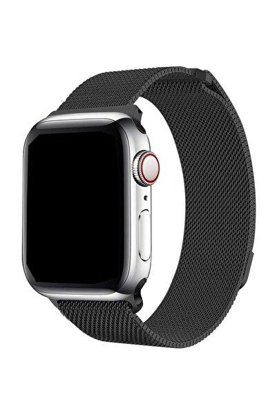Cimricik Apple Watch Uyumlu 2 3 4 5 42 mm 44 mm Hasır Örgü Kordon Kayış