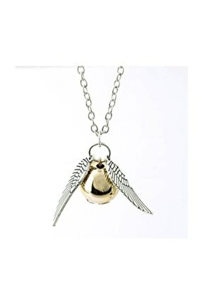 Unisex Beyaz Harry Potter The Golden Snitch Pendent Kolye