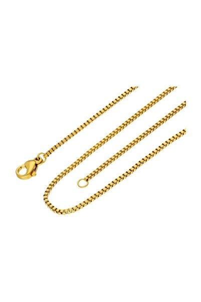 Chavin Erkek Sarı 1,5 mm 45 cm Çelik Zincir eb29