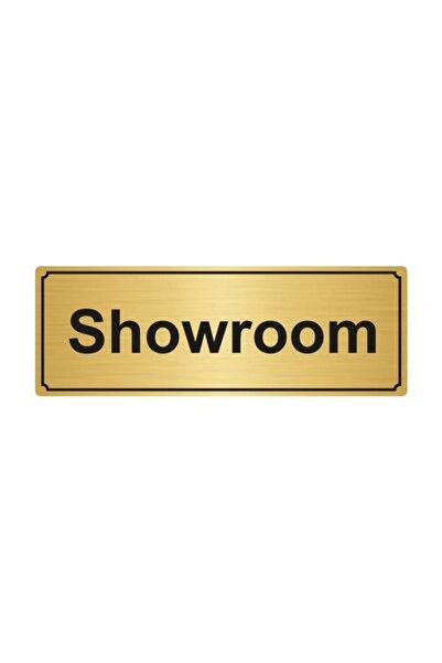 Artı Showroom Yönlendirme Levhası 10cmx20cm Altın Renk