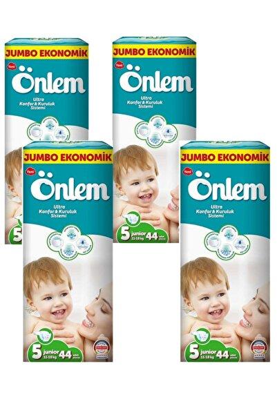 ÖNLEM Bebek Bezi Jumbo Paket 5 No Junior 44 Adet 11-18 Kg 4 Lü Paket