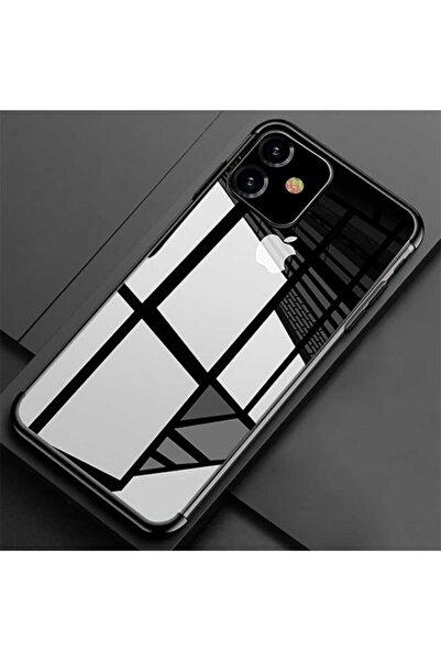 Lopard Apple Iphone 11 Kılıf Koruma Kabı 4 Köşe Laser Şeffaf Kap