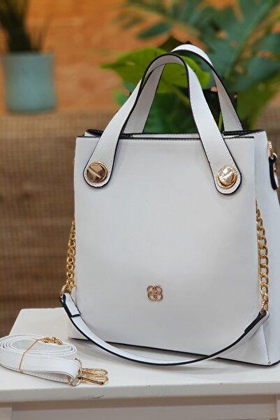 Limoya Bags Perla Beyaz El Ve Omuz Çantası