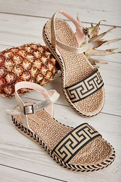 Bambi Altın Kadın Sandalet L0674055678