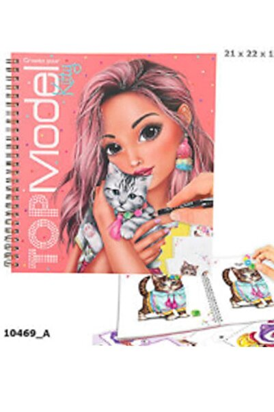 Top Model Kitty Boyama Kitabı 10469
