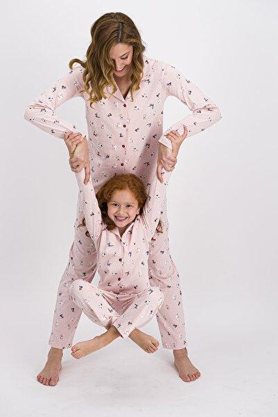 ROLY POLY Rolypoly Somon Little Cats Kadın Gömlek Pijama Takımı