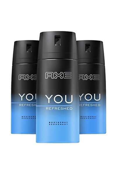 Axe Erkek Deodorant Sprey You Refreshed 150 ml X3