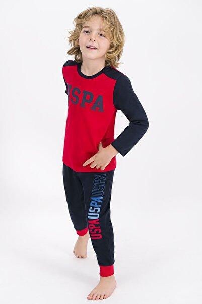 U.S. Polo Assn. U.s. Polo Assn Lisanslı Açık Kırmızı Erkek Çocuk Pijama Takımı