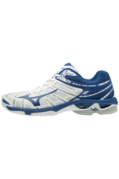 MIZUNO Wave Voltage Unisex Voleybol Ayakkabısı Beyaz / Mavi