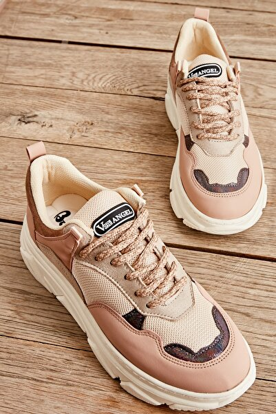 Bambi Pudra/bej File Kadın Sneaker L0601914309