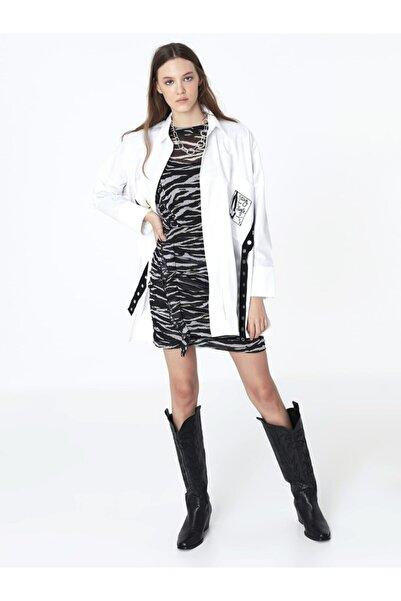 Twist Zebra Desen Elbise
