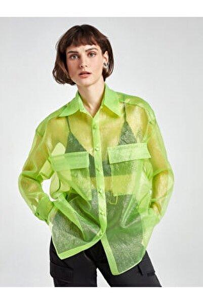 Simli Organze Gömlek