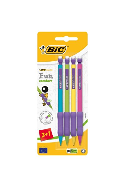 Bic Matic Fun Comfort 0.7mm Versatil Kalem 4'lü Blister