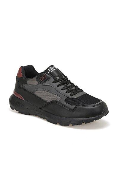 Kinetix Grafy Siyah Erkek Kalın Taban Sneaker Spor Ayakkabı