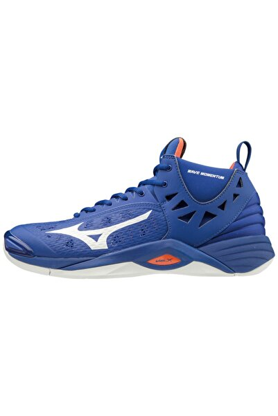 MIZUNO Wave Momentum Mıd Unisex Voleybol Ayakkabısı Mavi