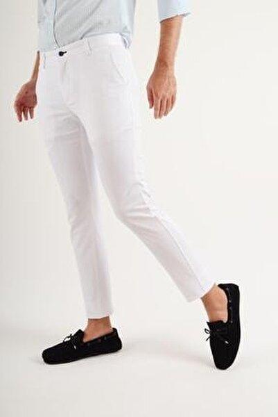 Günlük Kumaş Beyaz Erkek Pantolon Salacak