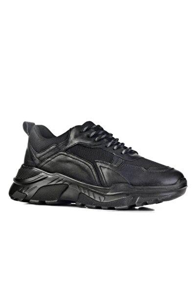 Cabani Cindy K Özel Tasarım Light Taban Bağcıklı Gelax Jel Taban - Kadın Ayakkabı Siyah Deri