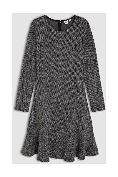 GAP Fit & Flare Uzun Kollu Elbise