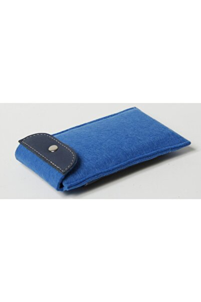 PLM Keçe/deri Tasarım Çok Amaçlı Powerbank/telefon Kılıfı Mavi