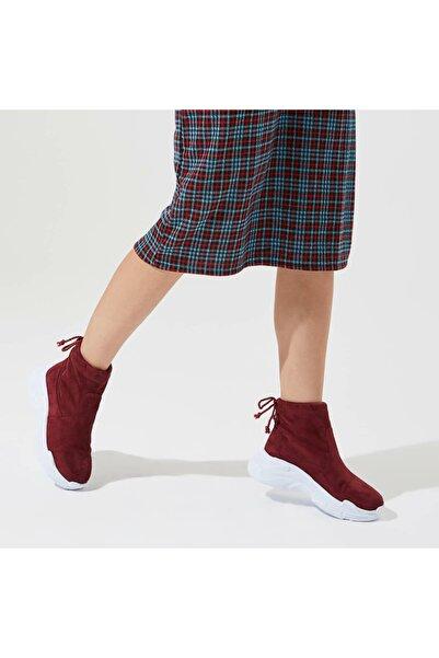 Butigo Rıhanna31z Süet Bordo Kadın Çorap Bot