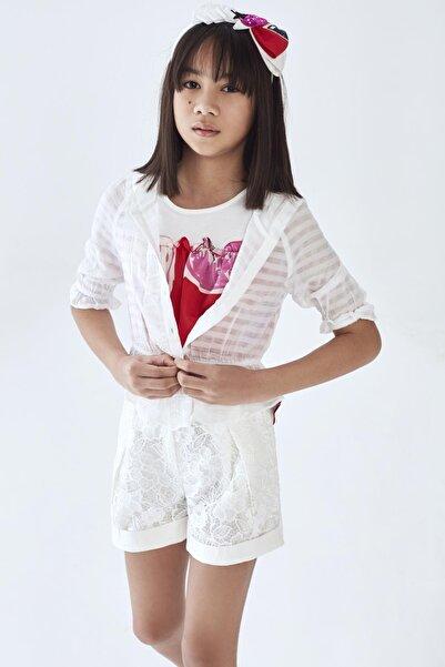 Lia Lea Kız Çocuk Beyaz Ceket