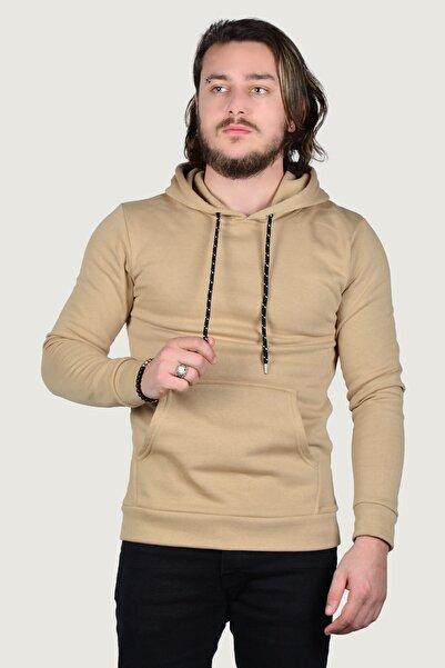 Terapi Men Erkek Kapşonlu Uzun Kollu Sweatshirt 9y-5200178-015-1 Kahverengi