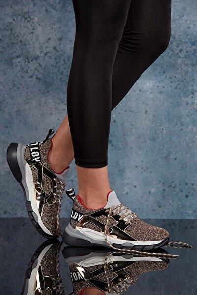 DARK SEER Altın Kadın Sneaker