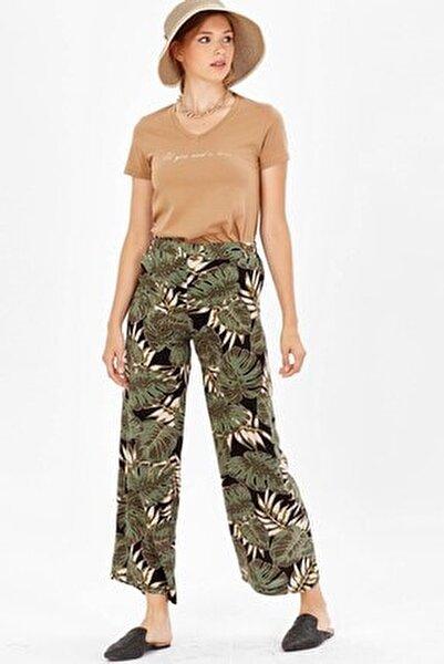 Bol Paça Pantolon - Yeşil Yaprak