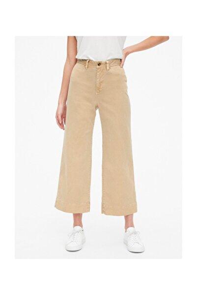 GAP Yüksek Belli Wide Leg Chino Pantolon