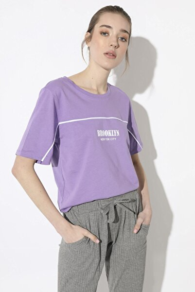 Arma Life Baskılı T-shirt - Lila