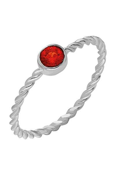 Chavin Gümüş Taşlı Kadın Yüzük Mini Eklem Yüzüğü Ed84by