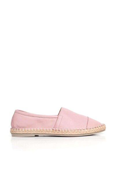 BUENO Shoes Tabandan Hasır Detaylı Hakiki Deri Kadın Babet 9j0300