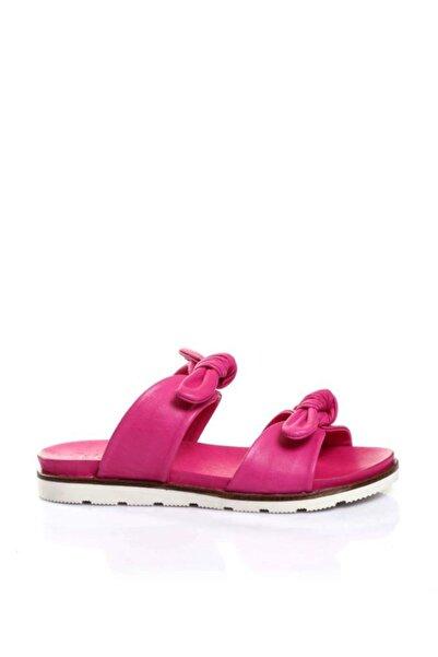 BUENO Shoes Çift Fiyonklu Hakiki Deri Kadın Düz Terlik 9l0511