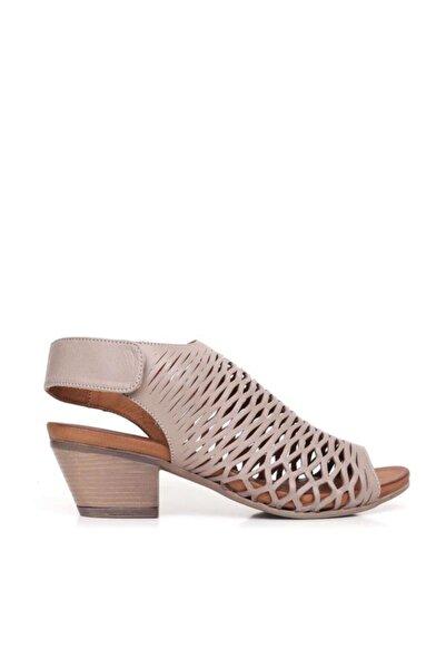 BUENO Shoes Desenli Hakiki Deri Kadın Topuklu Sandalet 9l1406
