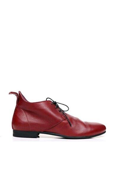 BUENO Shoes Bağcıklı Ve Büzgülü Hakiki Deri Kadın Düz Bot 9p5911