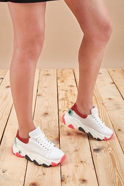 Louis Cardy Kadın Beyaz Mercan Hoth Sneaker