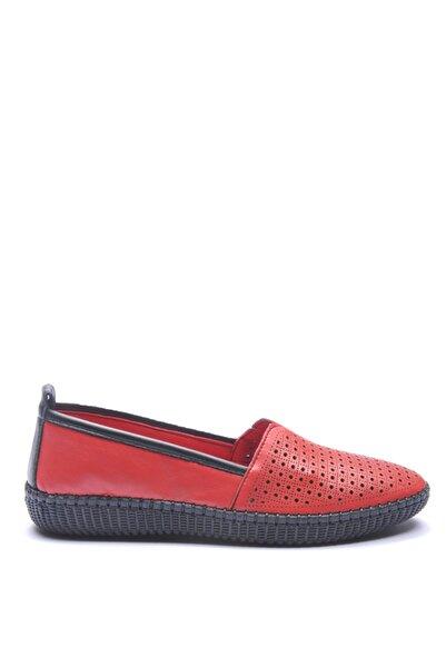 Bulldozer 191503 Kırmızı Kadın Deri Ayakkabı