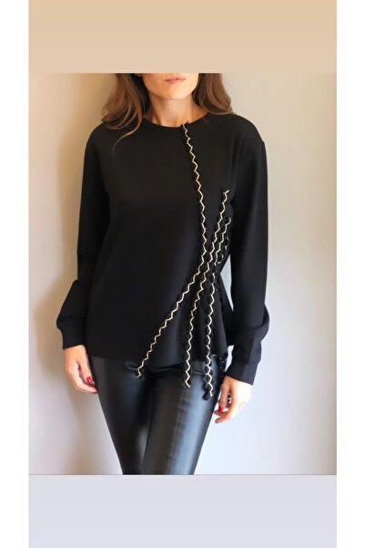 LOVEMETOO Kadın Gina Siyah Sweatshirt 18k30