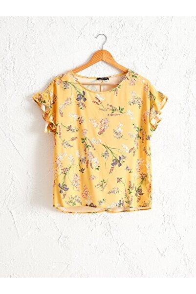 LC Waikiki Kadın Sarı Baskili  Bluz