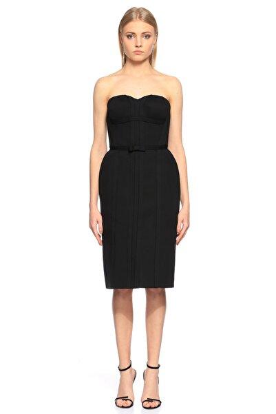 Lanvin Straplez Siyah Elbise