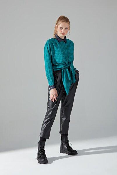 Mizalle Mızalle Rahat Kalıp Gömlek (Yeşil)