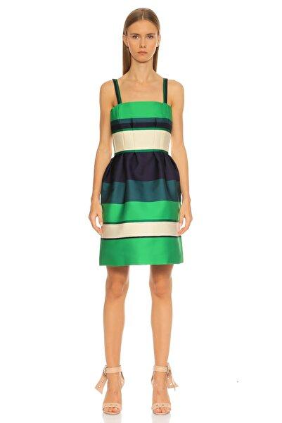 Lanvin Çizgili Yeşil Elbise