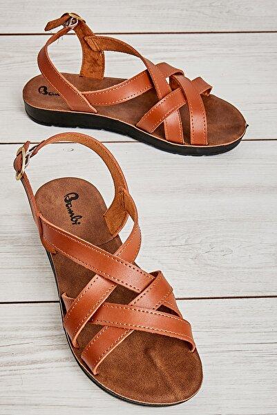 Bambi Taba Kadın Sandalet L0642111209