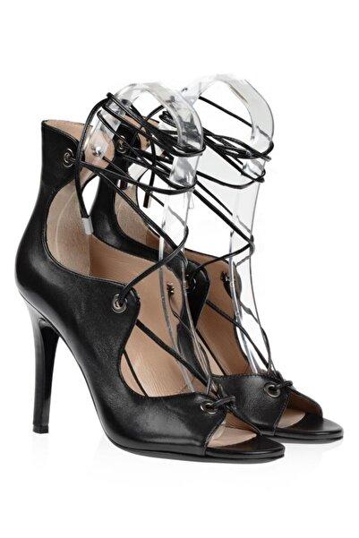 Nursace Hakiki Deri Klasik Topuklu Ayakkabı Nsc16y-a52602