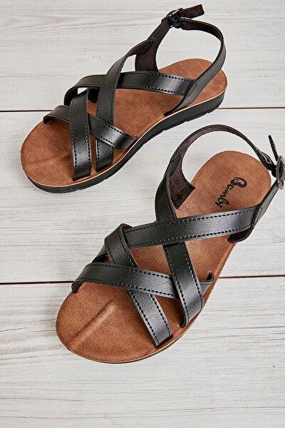Bambi Sıyah Kadın Sandalet L0642111209