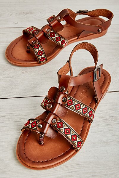 Bambi Kahve Kadın Sandalet L0776019309