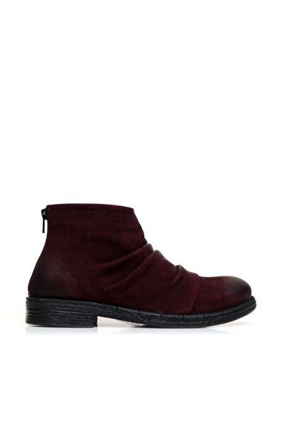 BUENO Shoes Fermuarlı Ve Büzgülü Hakiki Deri Kadın Düz Bot 9p2401